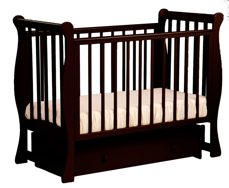 Детская кроватка Кубаньлесстрой БИ 07.2 Ландыш поперечный маятник