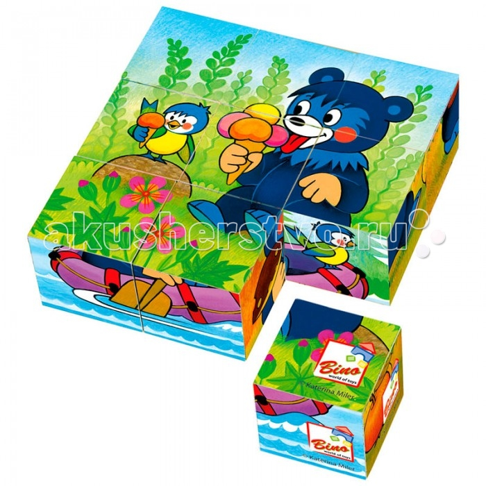 Деревянная игрушка Mertens кубики Медвежоноккубики МедвежонокBino Деревянные кубики Медвежонок.  Перебирая кубики и сопоставляя элементы картинок, малыш сможет собрать любимого мишку.  В наборе 9 кубиков, из которых можно собрать 6 картинок. Упакованы в красочную деревянную коробку.<br>