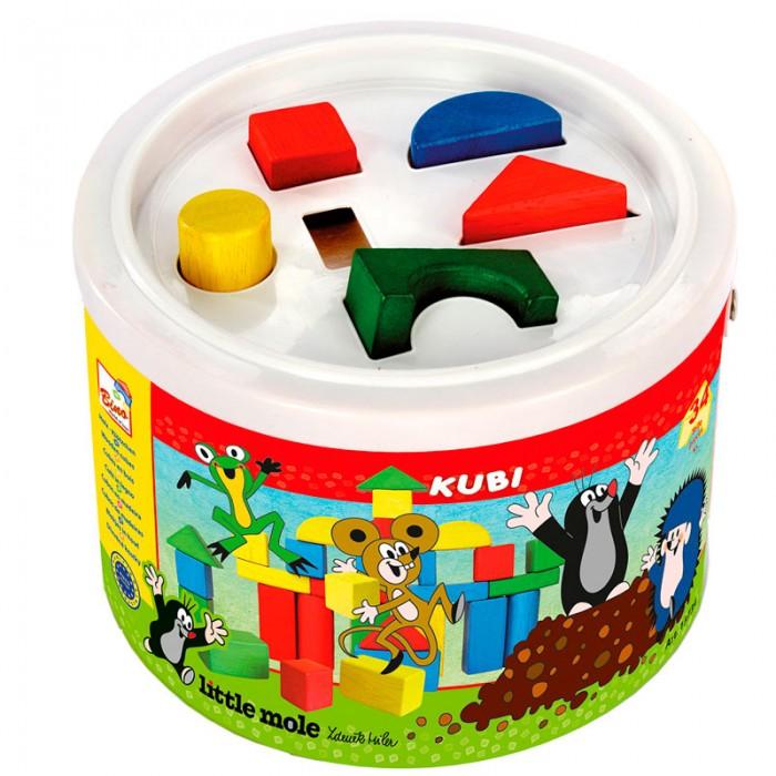 Деревянная игрушка Mertens кубики Маленький кроткубики Маленький кротBino Деревянные кубики Маленький крот.  Кубики в ведре Bino Кротик 13734 Набор разноцветных деревянных кубиков в ведерке прекрасный подарок для малыша. С одной стороны — это конструктор, из которого малыш сможет построить свои первые башни. А с другой - это замечательный сортер.   Ведь на крышке ведерка вырезаны отверстия. К этим отверстиям ребенок должен подобрать соответствующие фигуры конструктора. Все элементы окрашены в основные цвета, что позволит в процессе игры познакомится с основными цветами и формой предметов, развивать пространственное мышление, навыки конструирования, логику, память, моторику, координацию движений.<br>