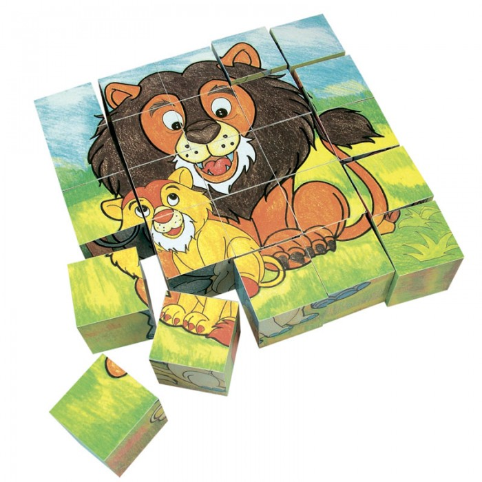 Деревянная игрушка Mertens кубики Животные