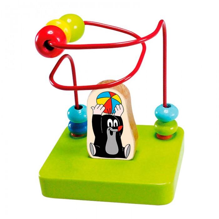 Деревянная игрушка Mertens Лабиринт Маленький кротЛабиринт Маленький кротBino Лабиринт Маленький крот.  Развивающая игрушка для детей от 1 года – простой вертикальный лабиринт из жесткой металлической проволоки на яркой деревянной основе с фигуркой знаменитого озорного Крота. Развивает мелкую моторику, логическое мышление, цветовосприятие.  Знакомит с формами предметов – бусинки, которые нужно передвигать по лабиринту, круглые и сплюснутые. С этим лабиринтом малыш начинает изучать цифры и цвета уже в раннем возрасте.<br>