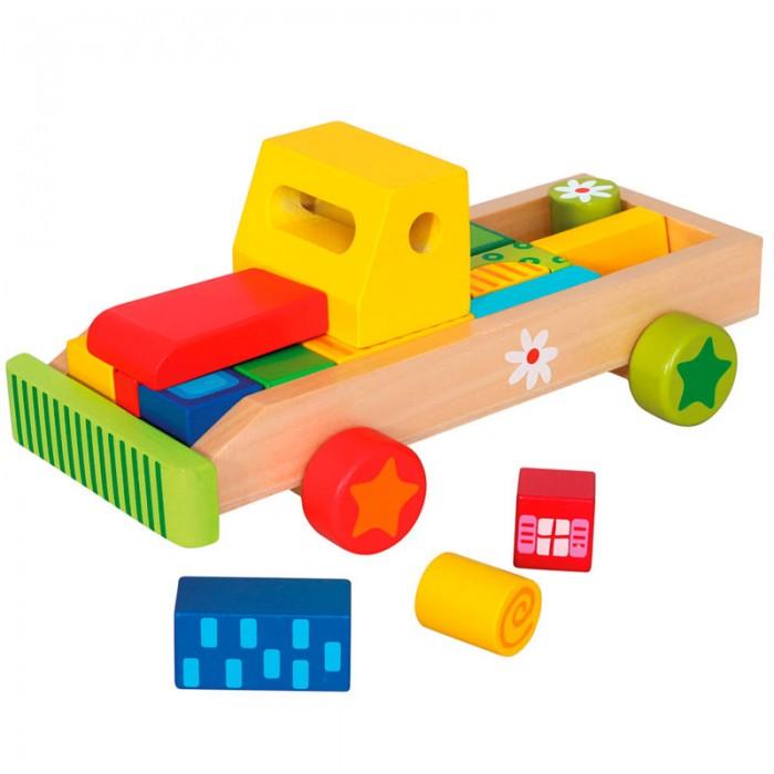 Деревянная игрушка Mertens Машина с кубиками