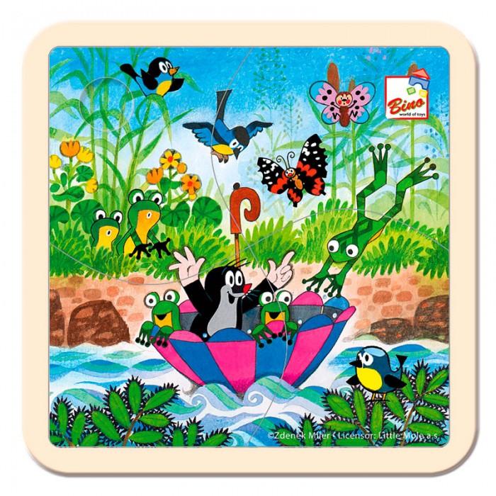 Mertens Пазл Маленький крот 13722Пазл Маленький крот 13722Bino Пазл Маленький крот.  Красочный пазл Маленький крот от компании Bino создан для развития логического мышления у малышей. Из ярких деталей ребёнок соберёт картину с персонажами известной серии мультфильмов про крота. Элементы игры сделаны из экологически чистой древесины и окрашены пищевыми красками, поэтому полностью безопасны для здоровья малыша.   Все детали тщательно обработаны и не имеют острых углов и шероховатостей. Интересный пазл с весёлыми героями надолго увлечёт ребёнка и поможет ему развить свои творческие способности и логику.  Развитие навыков: игра способствует развитию фантазии, воображения, логического мышления, тренирует мелкую моторику рук.<br>