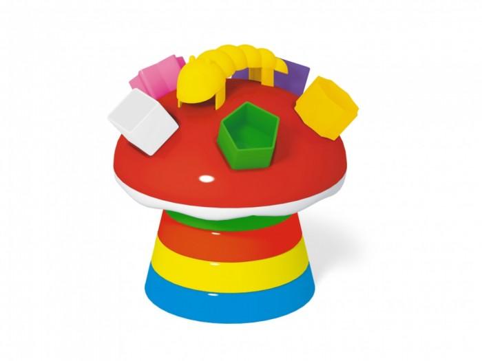 Развивающая игрушка Стеллар Логическая пирамидка ГрибЛогическая пирамидка ГрибЛогическая игрушка Гриб - одновременно пирамидка и сортер.   Вначале требуется надевать кольца на основу (от большего к меньшему), чтобы собрать ножку гриба, потом поставить сверху шляпку с отверстиями разной формы.   Тут-то и наступит часть игры с сортером - в комплект входят фигуры разнообразных геометрических форм, которые нужно вставлять в соответствующие им отверстия на грибе.   Игра развивает множество навыков и полезна для общего развития.   Развивает мелкую моторику, зрительно-моторную координацию. Формирует элементарные представления о математических понятиях: цвет, размер, последовательность, форма.<br>