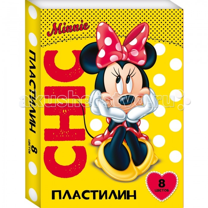 Росмэн Пластилин Disney Минни  8 цветов