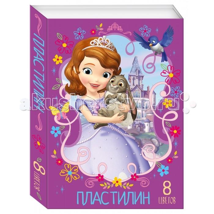 Росмэн Пластилин Disney София 8 цветов