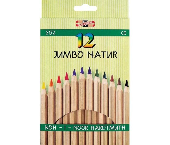 Koh-i-Noor Набор цветных карандашей Jumbo natur 12 цветов