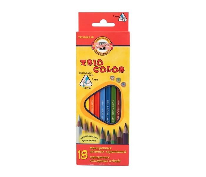 Koh-i-Noor Набор цветных карандашей Triocolor 18 цветов