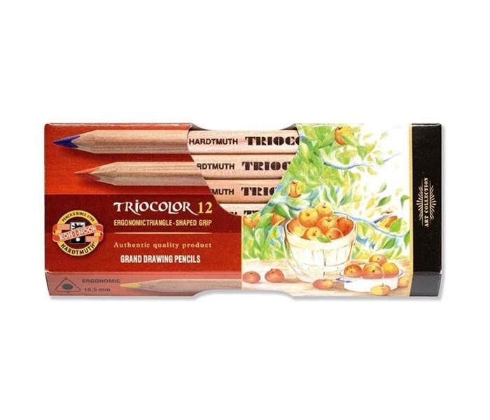 Koh-i-Noor Набор цветных карандашей художественных Triocolor 12 цветов