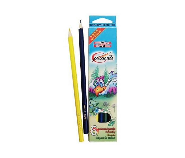 Koh-i-Noor Набор цветных карандашей Птицы 6 цветов
