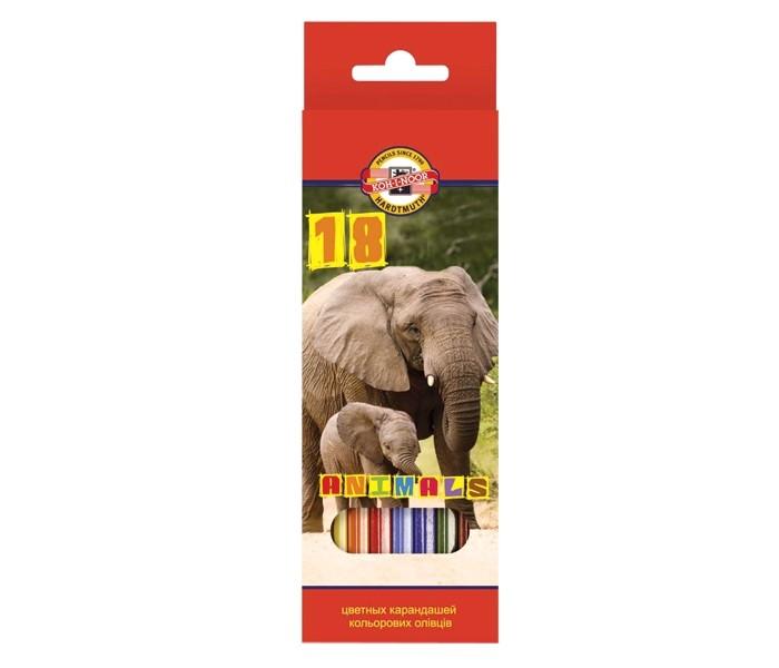 Koh-i-Noor Набор цветных карандашей Животные 18 цветов