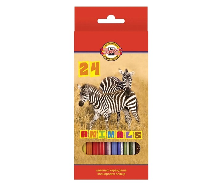 Koh-i-Noor Набор цветных карандашей Животные 24 цветов