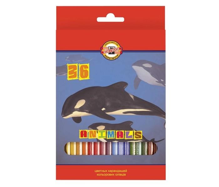 Koh-i-Noor Набор цветных карандашей Животные 36 цветовНабор цветных карандашей Животные 36 цветовKoh-i-Noor Набор цветных карандашей Животные 36 цветов  Цветные карандаши Животные непременно, понравятся вашему юному художнику.  Набор включает в себя 36 ярких насыщенных цветных карандашей, которые идеально подходят для малышей.  Шестигранный корпус изготовлен из натуральной древесины.  Карандаши имеют прочный неломающийся грифель, не требующий сильного нажатия и легко затачиваются.  Порадуйте своего ребенка таким восхитительным подарком!<br>