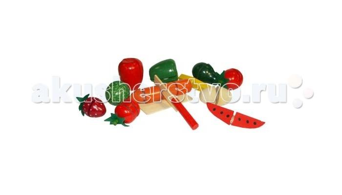 Деревянная игрушка QiQu Wooden Toy Factory Большой набор Фрукты и овощи 19 х 18 смБольшой набор Фрукты и овощи 19 х 18 смБольшой набор Фрукты и овощи 19 х 18 см  Игрушка развивает мелкую моторику рук детей, фантазию, логику.  Разработана из экологически-чистых материалов, предназначена для малышей и более взрослых детей.<br>