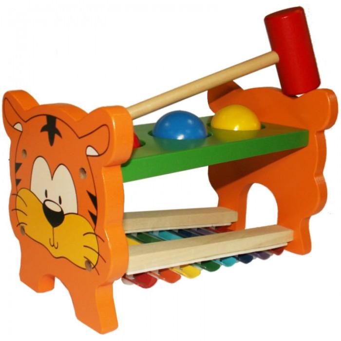 Музыкальная игрушка QiQu Wooden Toy Factory Стучалка музыкальная Тигренок
