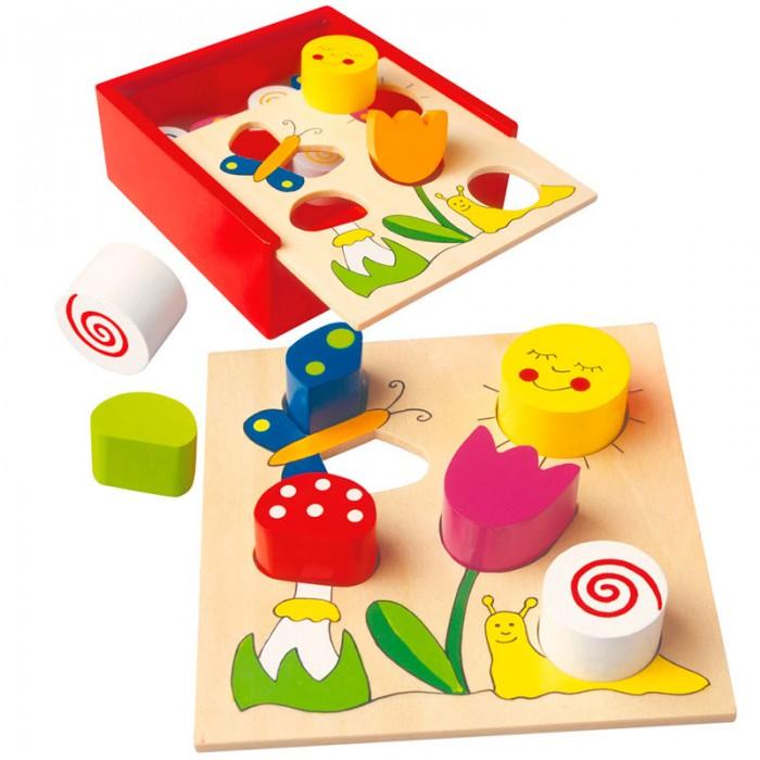Mertens Пазл-сортер ЛугПазл-сортер ЛугBino Пазл-сортер Луг.  Объемный пазл Луг очень удобен для детей, которые только начинают развивать моторику ручек. С такой игрой малыш будет не только играть, но и развиваться. Благодаря коробочке которая входит в комплект может использоваться как сортер. Состоит из 13 деталей.<br>