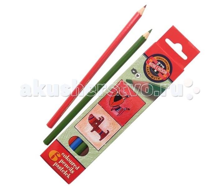 Koh-i-Noor Набор цветных карандашей Кошки+собаки 6 цветовНабор цветных карандашей Кошки+собаки 6 цветовKoh-i-Noor Набор цветных карандашей Кошки+собаки 6 цветов  Цветные карандаши Кошки+собаки непременно, понравятся вашему юному художнику.  Набор включает в себя 6 ярких насыщенных цветных карандашей, которые идеально подходят для малышей.  Шестигранный корпус изготовлен из натуральной древесины.  Карандаши имеют прочный неломающийся грифель, не требующий сильного нажатия и легко затачиваются.  Порадуйте своего ребенка таким восхитительным подарком!<br>