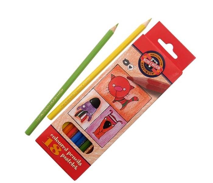 Koh-i-Noor Набор цветных карандашей Кошки+собаки 18 цветов