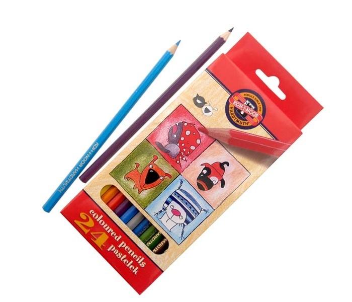 Koh-i-Noor Набор цветных карандашей Кошки+собаки 24 цветаНабор цветных карандашей Кошки+собаки 24 цветаKoh-i-Noor Набор цветных карандашей Кошки+собаки 24 цвета  Цветные карандаши Кошки+собаки непременно, понравятся вашему юному художнику.  Набор включает в себя 24 ярких насыщенных цветных карандашей, которые идеально подходят для малышей.  Шестигранный корпус изготовлен из натуральной древесины.  Карандаши имеют прочный неломающийся грифель, не требующий сильного нажатия и легко затачиваются.  Порадуйте своего ребенка таким восхитительным подарком!<br>
