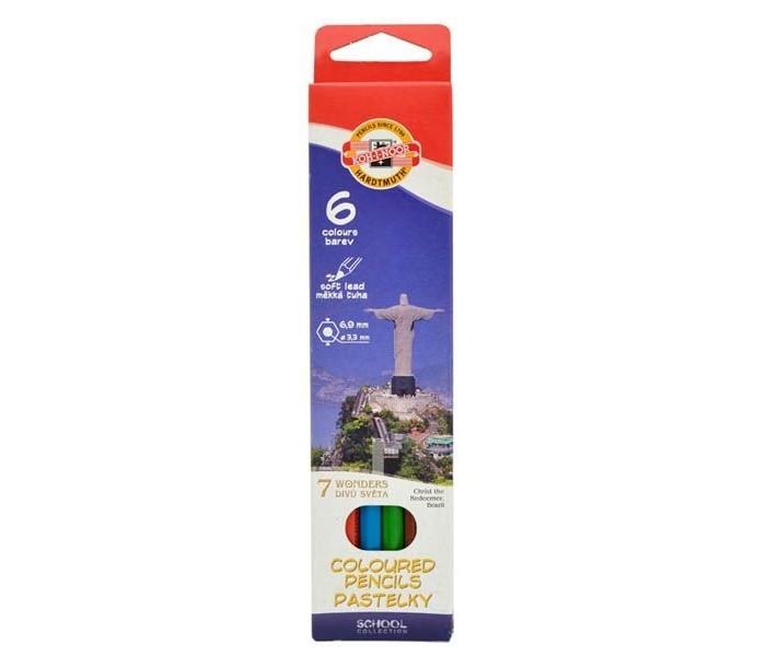 Koh-i-Noor Набор цветных карандашей 7 чудес света 6 цветов