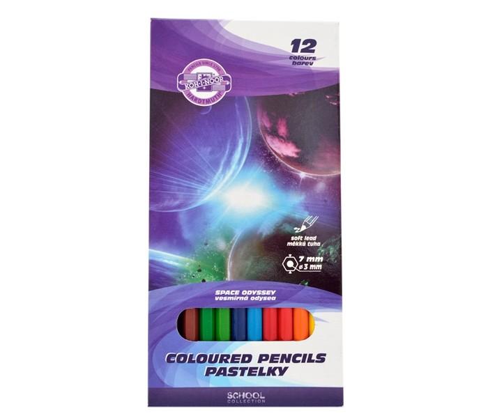 Koh-i-Noor Набор цветных карандашей Космос 12 цветов