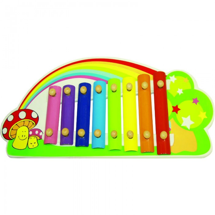 Музыкальная игрушка QiQu Wooden Toy Factory Ксилофон Радуга