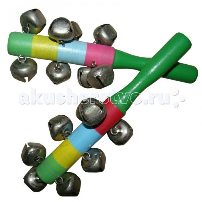 Музыкальная игрушка QiQu Wooden Toy Factory Маракас цветной 14,5 см