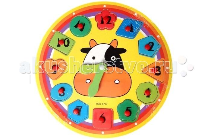 QiQu Wooden Toy Factory Часы-пазлЧасы-пазлЧасы-пазл  Часы. Стрелки можно передвигать. Каждая цифра представляет собой вкладыш.  Яркая деревянная игрушка для малышей. Способствует развитию фантазии, мышления, учит детей усидчивости.   Изготовлена из экологически-чистых материалов и предназначена для малышей и более взрослых детей.<br>