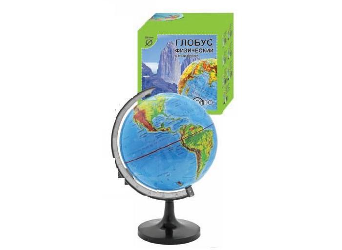 Rotondo Глобус физический 20 смГлобус физический 20 смRotondo Глобус физический, 20 см.  Глобус является уменьшенной и практически не искаженной моделью Земли и предназначен для использования в качестве наглядного картографического пособия, а также для украшения интерьера квартир, кабинетов и офисов.   Красочность, повышенная наглядность визуального восприятия взаимосвязей, отображенных на глобусе объектов и явлений, в сочетании с простотой выполнения по нему различных измерений делают глобус доступным широкому кругу потребителей для получения разнообразной познавательной, научной и справочной информации о Земле.<br>
