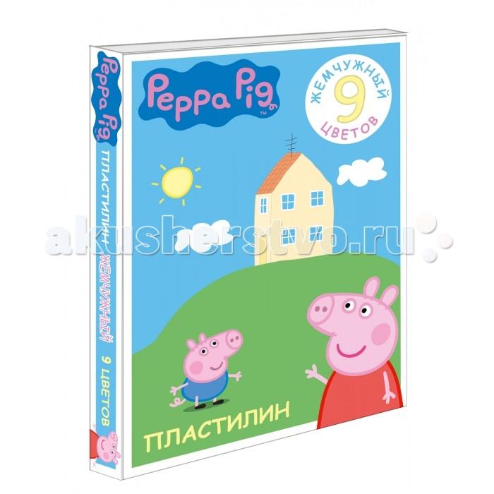 Peppa Pig Пластилин жемчужный Свинка Пеппа 9 цветов