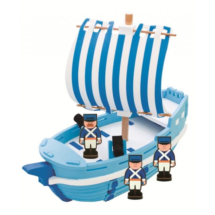 Конструктор Bebox Военный корабль 29 деталейВоенный корабль 29 деталейИгровой набор Военный корабль - особенно понравится любителям военной тематики. Все дети любят приключения, поэтому с таким набором им не придется скучать. Как весело будет сначала собрать корабль, а потом представлять себя военным капитаном!  Мягкий конструктор Bebox сделан из вспененного полимера, он не токсичен, не вызывает аллергии, прошел европейскую и российскую сертификации. Материал легкий и прочный, что выделяет его среди прочих конструкторов! После сборки конструктор хорошо и прочно держит форму, что позволяет свободно использовать его в игре. Ребенок может собирать и разбирать конструктор множество раз, а это развивает сосредоточенность, внимательность, двигательную память, мелкую моторику рук и воображение.  Благодаря тому, что конструктор выполнен из вспененного полимера, он свободно держится на воде и может быть использован для игры в ванне.  В набор входят:  3 игровых персонажа военный корабль<br>