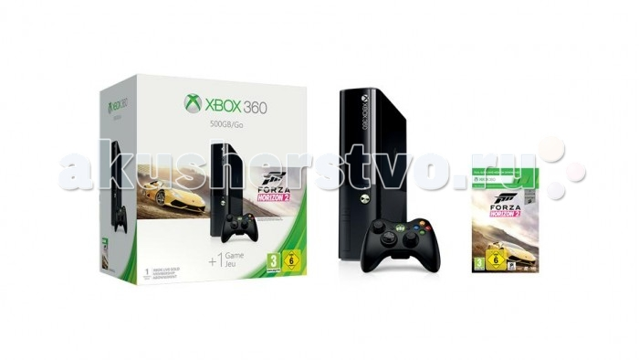 Microsoft Игровая приставка Xbox 360 E 500GB + код Forza Horizon 2