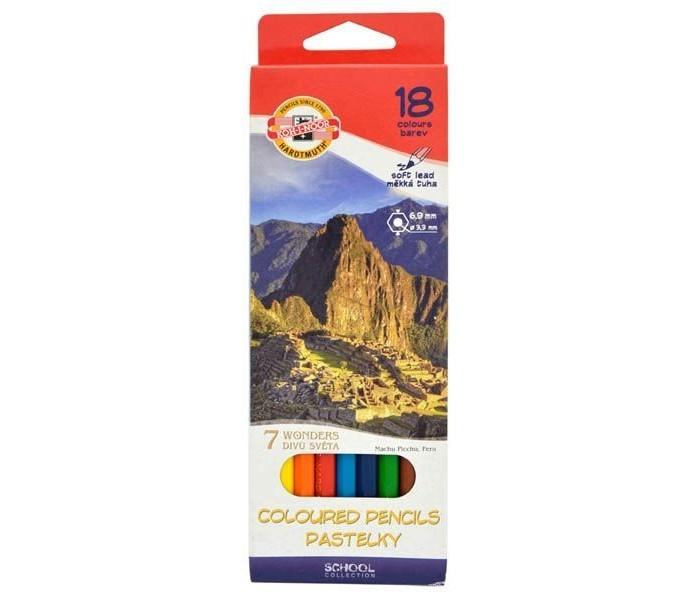 Koh-i-Noor Набор цветных карандашей 7 чудес света 18 цветов