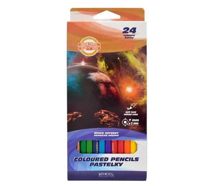 Koh-i-Noor Набор цветных карандашей Космос 24 цвета