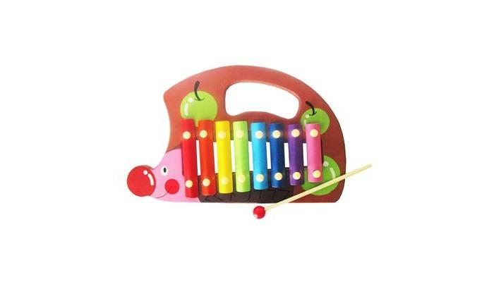 Музыкальная игрушка QiQu Wooden Toy Factory Металлофон Ежик