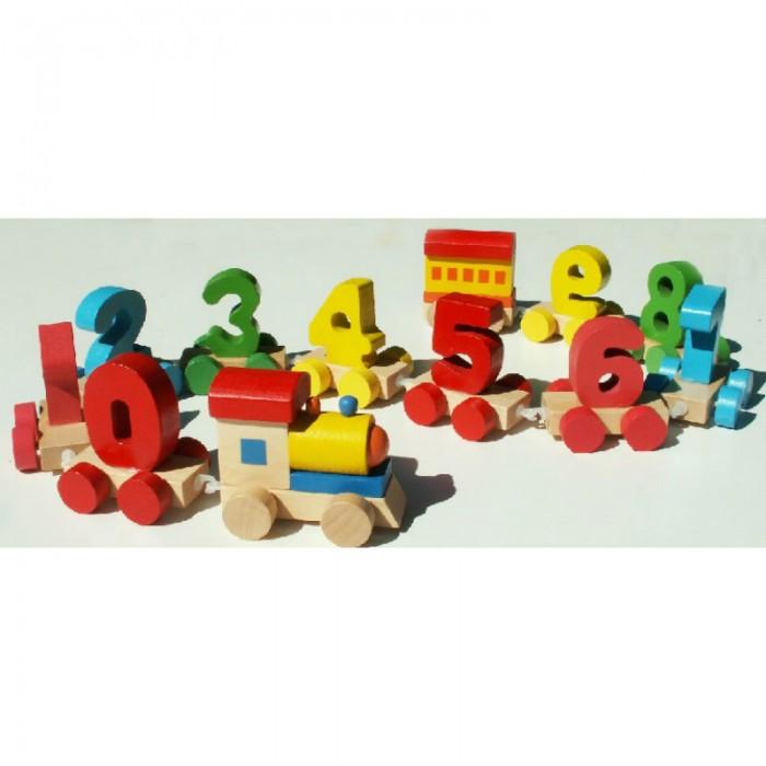 QiQu Wooden Toy Factory Паровозик ЦифрыПаровозик ЦифрыПаровозик Цифры  Не отвлекаясь от веселой игры, ребенок повторит названия цифр (а также цветов) и лучше запомнит их последовательность.  Способствует развитию фантазии, мышления, учит детей усидчивости.   Изготовлена из экологически-чистых материалов и предназначена для малышей и более взрослых детей.<br>