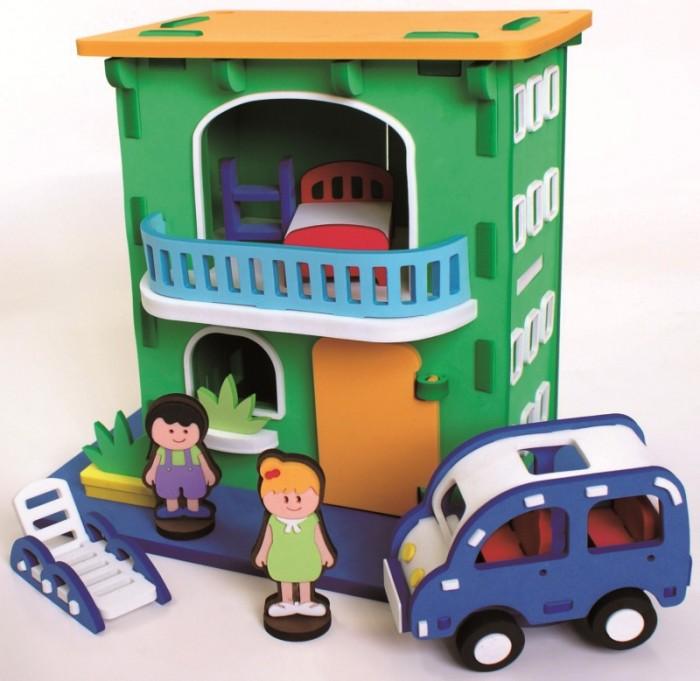 Конструктор Bebox Городской домик 93 деталиГородской домик 93 деталиИгровой набор Городской домик - это полностью сборный мягкий конструктор. Домик состоит из двух этажей - на первом этаже зал, второй представляет собой небольшую спальню. В нем живет семья- мама с сыночком, у них есть автомобиль, на котором они выезжают в город! Ребенок сможет играть с небольшой семьей, планировать их дела, укладывать их спать.  Мягкий конструктор Bebox сделан из вспененного полимера, он не токсичен, не вызывает аллергии, прошел европейскую и российскую сертификации. Материал легкий и прочный, что выделяет его среди прочих конструкторов! После сборки конструктор хорошо и прочно держит форму, что позволяет свободно использовать его в игре. Ребенок может собирать и разбирать конструктор множество раз, а это развивает сосредоточенность, внимательность, двигательную память, мелкую моторику рук и воображение.  Благодаря тому, что конструктор выполнен из вспененного полимера, он свободно держится на воде и может быть использован для игры в ванне.  В набор входят:  2 игровых персонажа городской домик автомобиль<br>