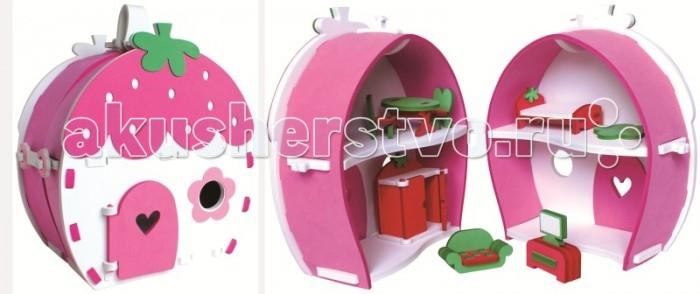Конструктор Bebox Клубничный домик 66 деталейКлубничный домик 66 деталейИгровой набор Клубничный домик - представляет собой складную сумочку-домик. Если у вашего ребенка есть игрушечный друг, то это будет отличное место для его отдыха. В домике есть все для жилья - кровать, шкаф, диван с телевизором и обеденный столик!  Мягкий конструктор Bebox сделан из вспененного полимера, он не токсичен, не вызывает аллергии, прошел европейскую и российскую сертификации. Материал легкий и прочный, что выделяет его среди прочих конструкторов! После сборки конструктор хорошо и прочно держит форму, что позволяет свободно использовать его в игре. Ребенок может собирать и разбирать конструктор множество раз, а это развивает сосредоточенность, внимательность, двигательную память, мелкую моторику рук и воображение.  Благодаря тому, что конструктор выполнен из вспененного полимера, он свободно держится на воде и может быть использован для игры в ванне.  Размер собранной модели: 22х19х31см<br>