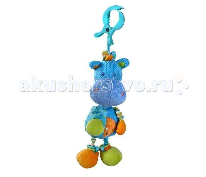 Подвесная игрушка Жирафики Бегемотик музыкальныйБегемотик музыкальныйПодвесная игрушка Жирафики Бегемотик музыкальный поможет скучающему малышу скоротать время перед долгим сном.   Простая механическая подвеска будет отвечать на движения ребенка и убаюкивать его своей простой мелодией.   Игрушка мягка и приятна на ощупь, имеет позитивный дизайн и интуитивно понятную функциональность.  Размер игрушки: 15 х 5 х 25 см<br>