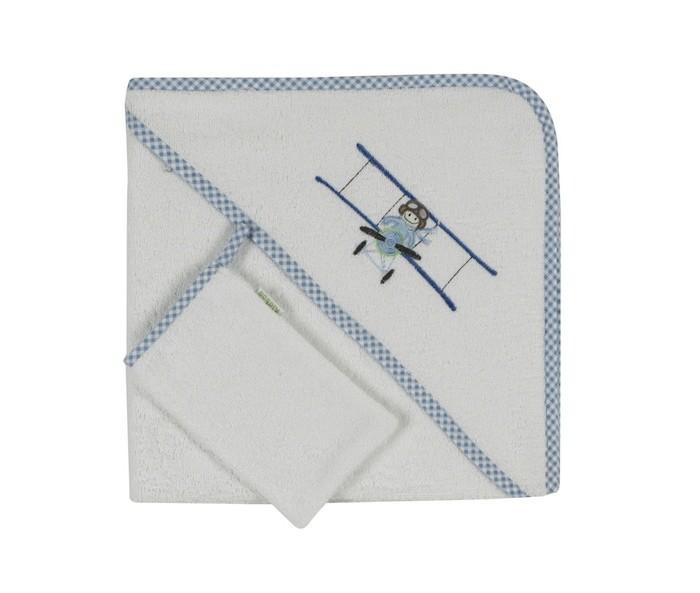 Kidboo Комплект полотенце-уголок + варежка Little Pilot
