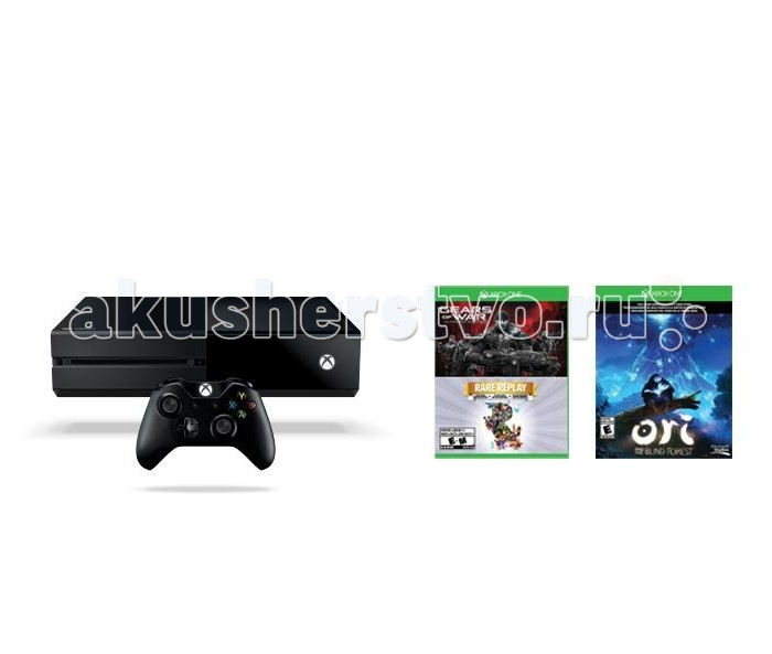 Microsoft Игровая приставка Xbox One 1 TB+Gears of War Ultimate/Rare Replay+код Ori and the Blind Forrest от Акушерство