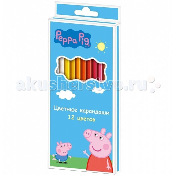 Peppa Pig Карандаши цветные Свинка Пеппа 12 цветов