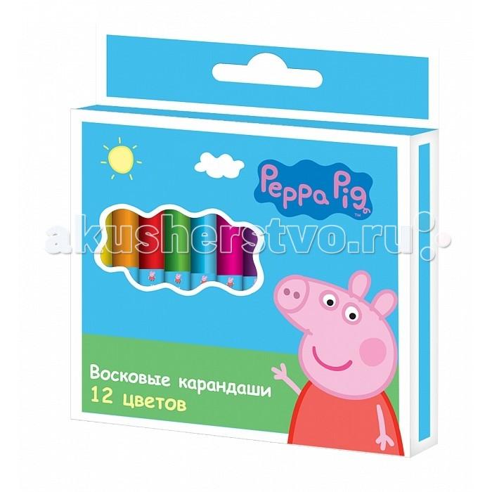 Peppa Pig Карандаши восковые Свинка Пеппа 12 шт.