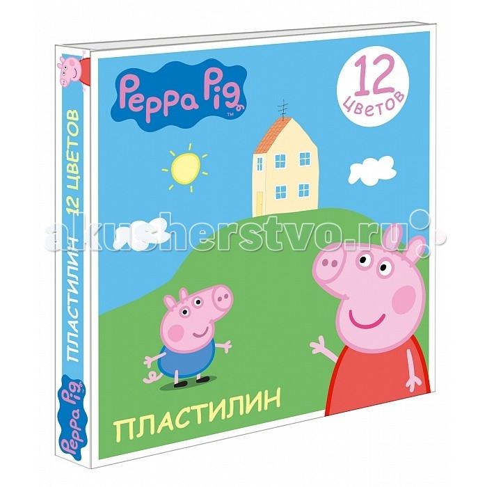 Peppa Pig Пластилин Свинка Пеппа 12 цветов