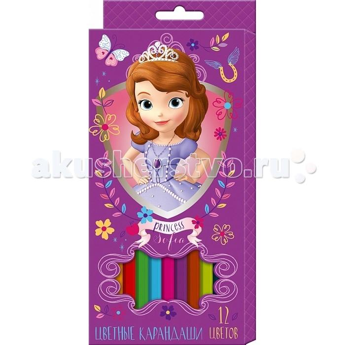 Росмэн Карандаши цветные  Disney София 12 цветов