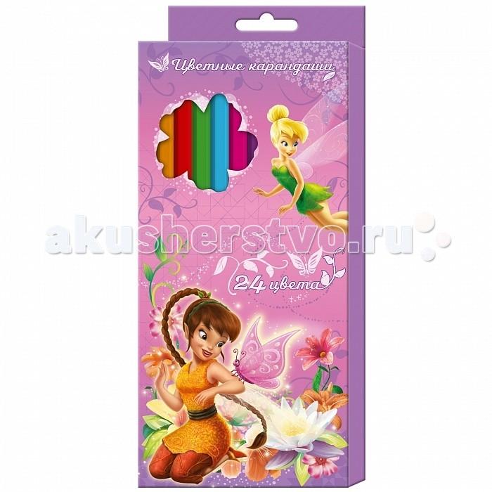 Росмэн Карандаши цветные Disney Феи 24 цвета