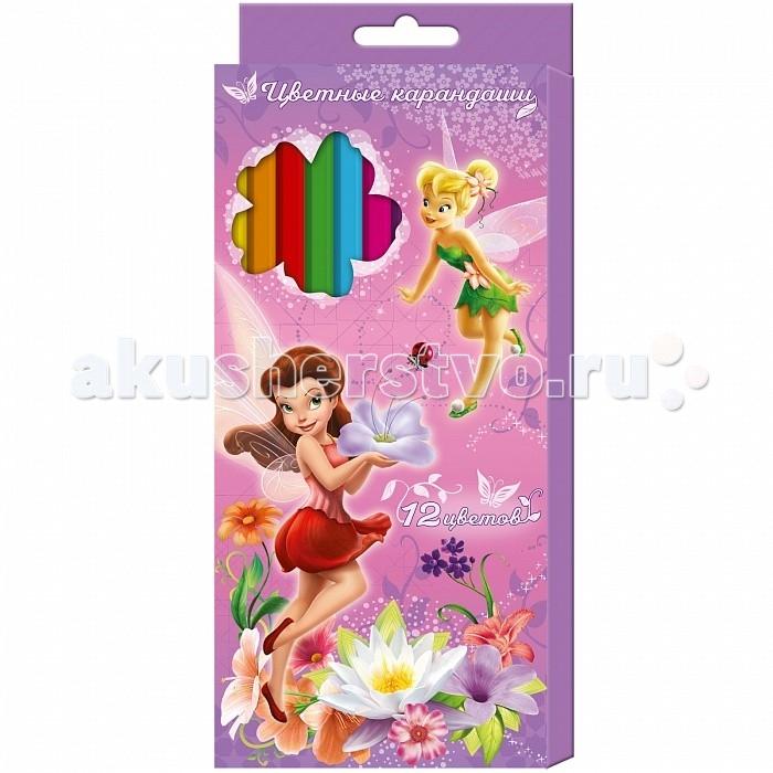 Росмэн Карандаши цветные Disney Феи 12 цветов