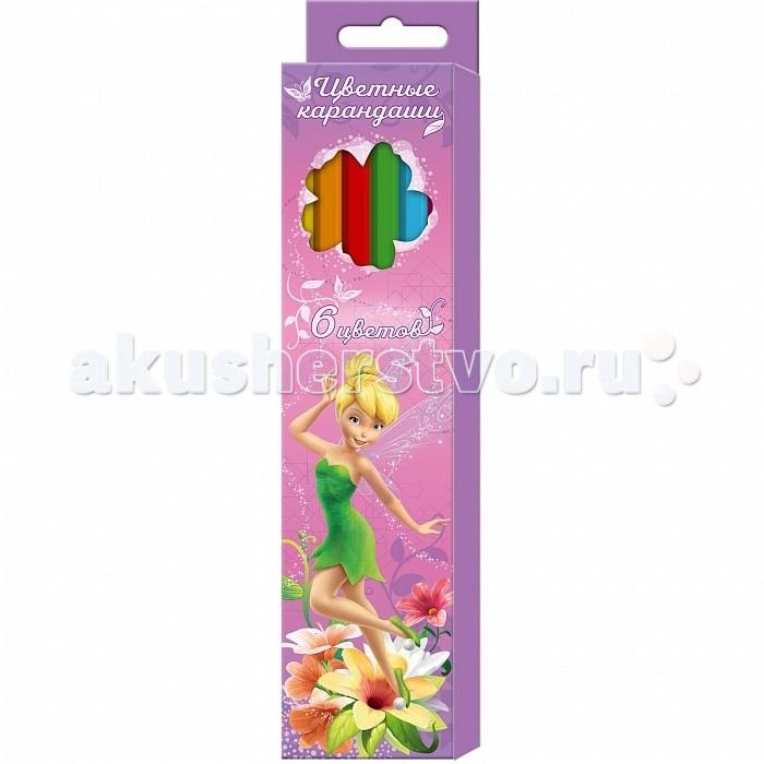 Росмэн Карандаши цветные Disney Феи 6 цветов