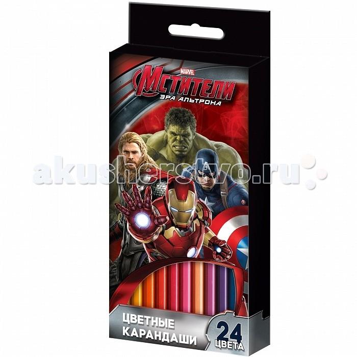 Росмэн Карандаши цветные Marvel Мстители 24 цвета