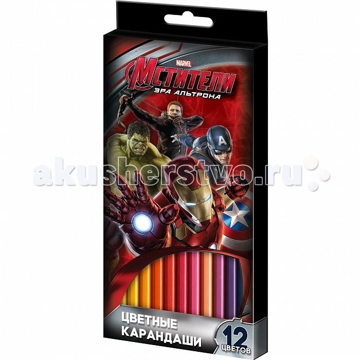 Росмэн Карандаши цветные Marvel Мстители 12 цветов